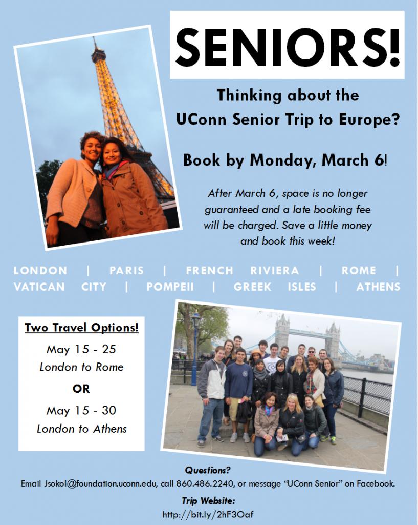 Senior Trip Flyer