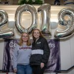 Senior Send-Off photo in front of 2019 balloons